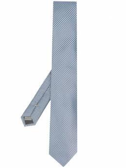 Canali галстук с геометричным принтом HJ02706