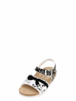 Mickey Mouse Print Faux Leather Sandals Moa Master Of Arts 71IXLC007-QkxBQ0svV0hJVEU1