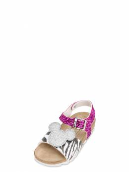 Glittered Mickey Faux Leather Sandals Moa Master Of Arts 71IXLC005-R0xJVFRFUg2