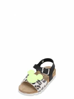 Glittered Mickey Faux Leather Sandals Moa Master Of Arts 71IXLC003-R0xJVFRFUiBMSU1F0