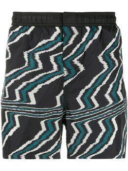 Missoni Mare плавки-шорты с узором зигзаг MUP00005BW008D