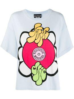 Boutique Moschino футболка Hippie Chic 09320800