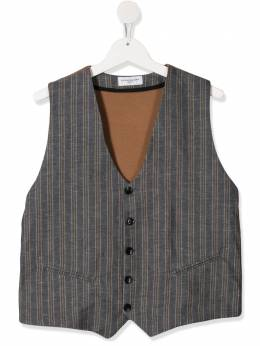 Paolo Pecora Kids TEEN striped V-neck waistcoat PP2317