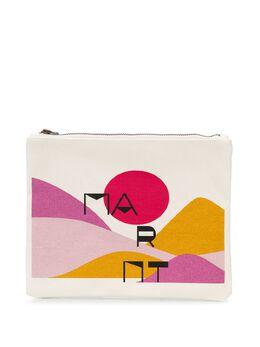 Isabel Marant парусиновый клатч с абстрактным принтом PO011620E040MPOUCH