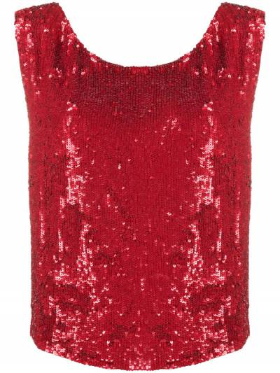P.a.r.o.s.h. sequin embellished sleeveless top GUMMYD310878 - 1