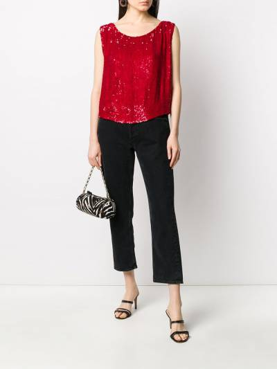 P.a.r.o.s.h. sequin embellished sleeveless top GUMMYD310878 - 2