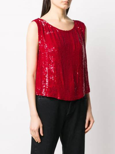 P.a.r.o.s.h. sequin embellished sleeveless top GUMMYD310878 - 3