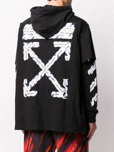 Off-White Airport Tape double-sleeve T-shirt OMAB0331850031088 - 4