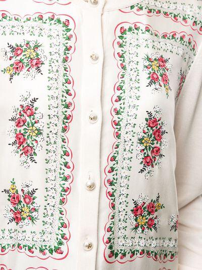 Tory Burch кардиган с цветочным принтом 64717 - 5