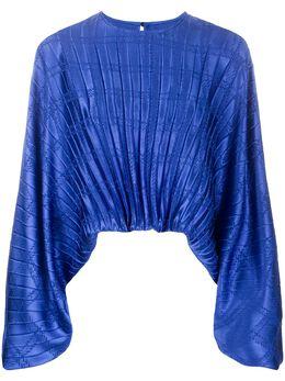 Federica Tosi блузка с плиссировкой и принтом FTE20BL0070RA0048