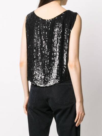 P.a.r.o.s.h. sequin embellished sleeveless top GUMMYD310878 - 4