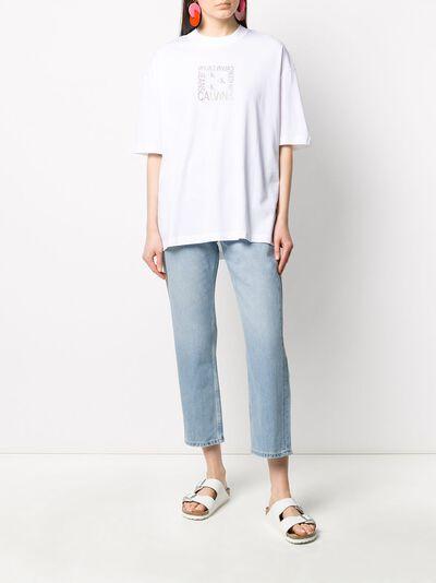 Calvin Klein Jeans футболка оверсайз с графичным логотипом J20J213774 - 2
