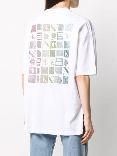 Calvin Klein Jeans футболка оверсайз с графичным логотипом J20J213774 - 4