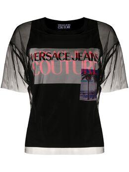 Versace Jeans Couture прозрачная футболка B2HVB7VA30384