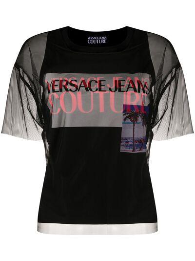 Versace Jeans Couture прозрачная футболка B2HVB7VA30384 - 1