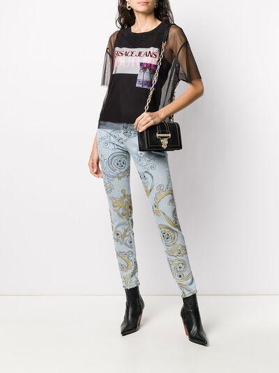 Versace Jeans Couture прозрачная футболка B2HVB7VA30384 - 2