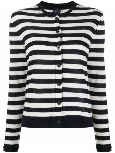 Paul & Shark striped fitted cardigan P20F1226 - 1
