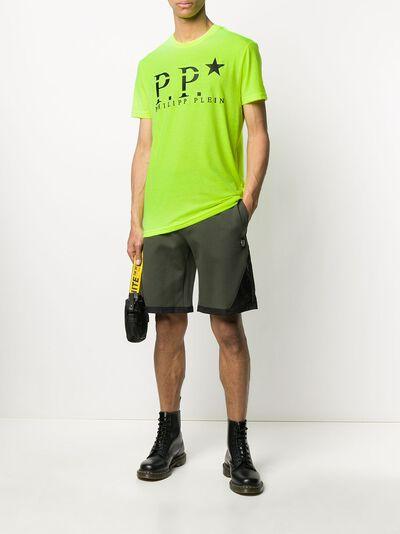 Philipp Plein colour block track shorts P20CMJT1494PJO002N - 2