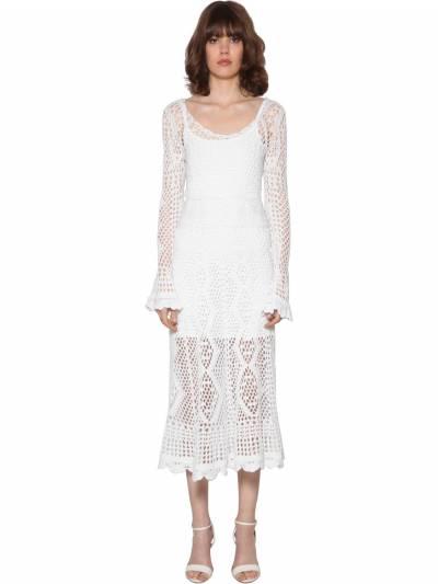Crochet Cotton Midi Dress Polo Ralph Lauren 71IFGF010-MDAx0 - 1