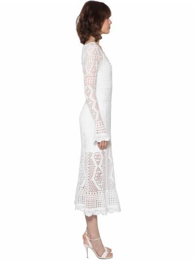 Crochet Cotton Midi Dress Polo Ralph Lauren 71IFGF010-MDAx0 - 3