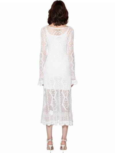 Crochet Cotton Midi Dress Polo Ralph Lauren 71IFGF010-MDAx0 - 4