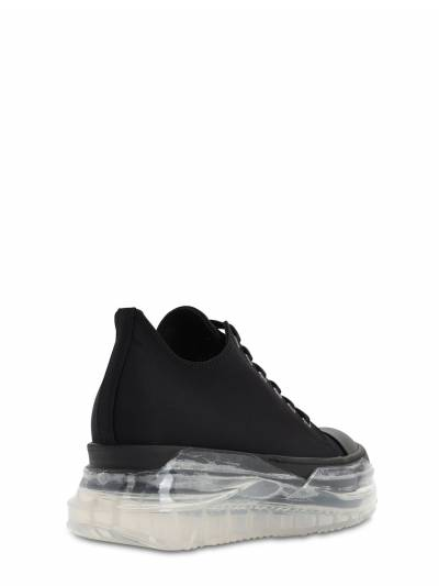 30mm Drkshdw Abstract Canvas Sneakers Rick Owens 71IXKT001-MDkw0 - 3