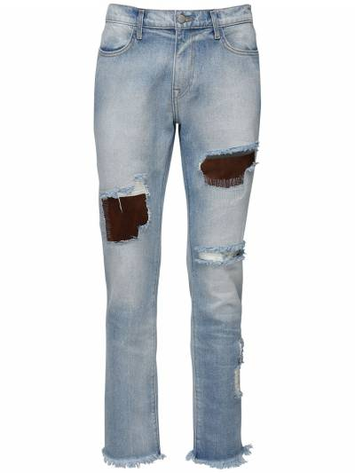 Light Wash Indigo Destroyed Denim Jeans 424 71IXGQ017-TFQgSU5E0 - 1