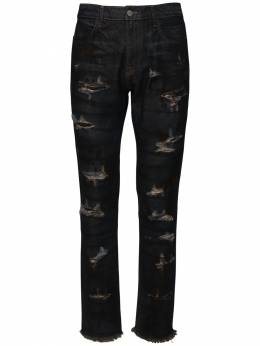 Indigo Dark Wash Destroyed Denim Jeans 424 71IXGQ016-SU5E0