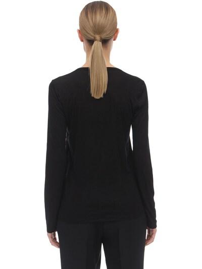Long Sleeve Viscose Jersey Top The Row 70IX5B032-QkxL0 - 4