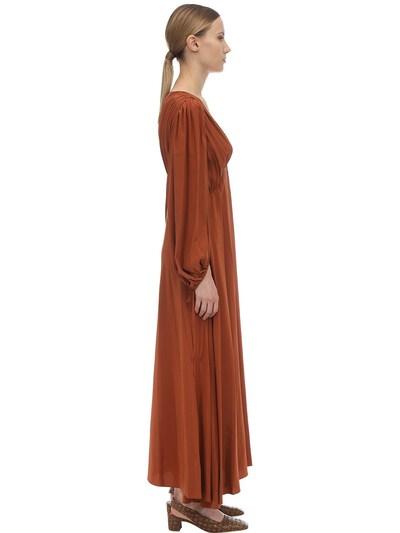 V Neck Compact Crepe Maxi Dress The Row 70IX5B007-VENU0 - 4