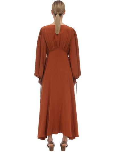 V Neck Compact Crepe Maxi Dress The Row 70IX5B007-VENU0 - 5
