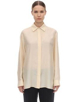 Long Habotai Silk Sleeves Shirt The Row 70IX5B005-U0FO0