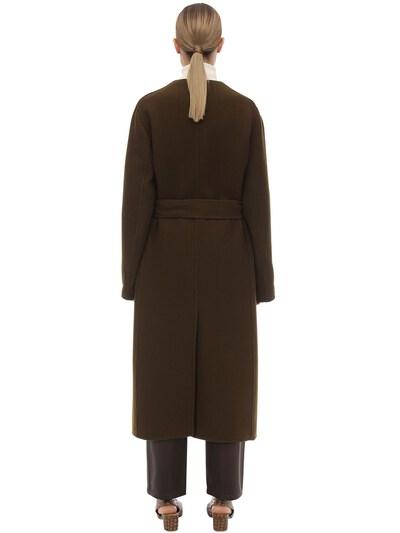 Long Virgin Wool Blend Coat The Row 70IX5B003-QVJN0 - 4