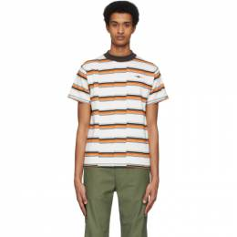 Phipps Off-White Striped Faultline T-Shirt PHSS20-N25-B