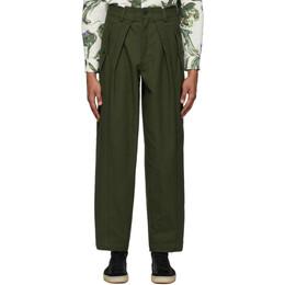 Jacquemus Green Le Pantalon Lavandou Trousers 205PA05-205 01580