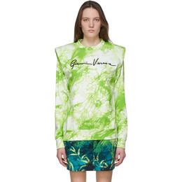 Versace Green Tie-Dye Signature Sweater A86353 A234708