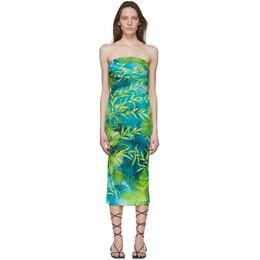 Versace Green Jungle Print Dress A86516 A234702