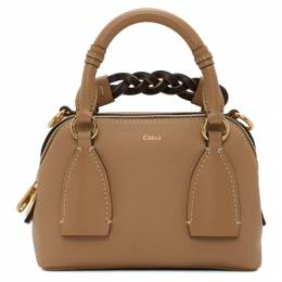 Chloe Brown Small Daria Bag CHC20US361C62