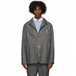 Thom Browne Grey Patch Pocket Denim Jacket MJO109A-06137