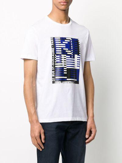 Karl Lagerfeld футболка с принтом Bauhaus KL200010010 - 3