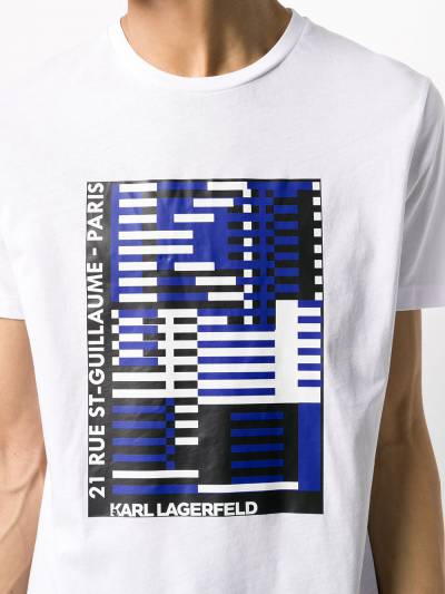 Karl Lagerfeld футболка с принтом Bauhaus KL200010010 - 5