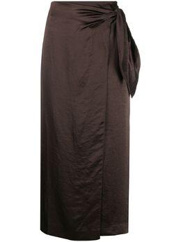Nanushka юбка с запахом и завышенной талией WSK00064101