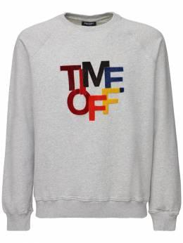 Time Off Patch Cotton Jersey Sweatshirt Ron Dorff 71IXKA006-Rw2