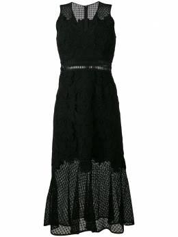 Jonathan Simkhai расклешенное кружевное платье без рукавов R1390Z