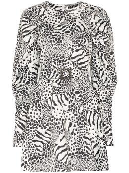 Rotate платье мини Tara с принтом 900404