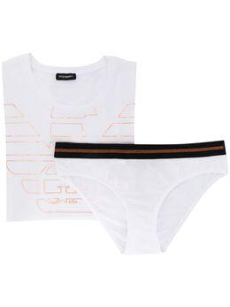 Emporio Armani комплект из футболки и трусов-брифов с логотипом 1638179A232