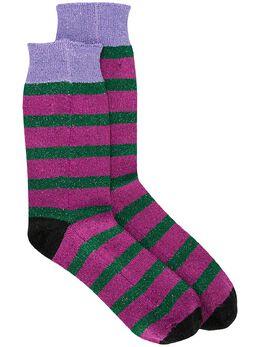 La Doublej носки в полоску с блестками SOC0002KNI015