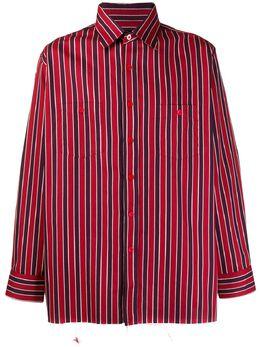 Needles полосатая рубашка с нагрудным карманом FK184A