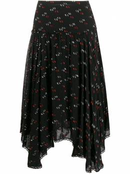 See By Chloe юбка из ткани филькупе с асимметричным краем CHS20SJU05031