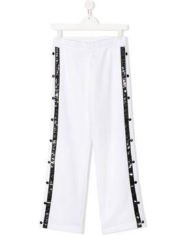 Balmain Kids спортивные брюки широкого кроя с логотипом 6M6527MA010